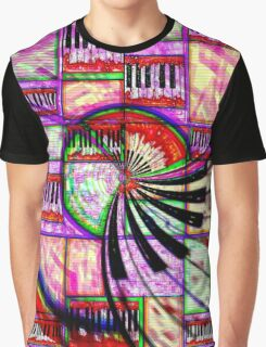 Abstract colourful keys vortex Graphic T-Shirt