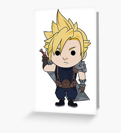 Cloud Strife Chibi Greeting Card