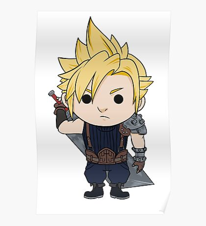 Cloud Strife Chibi Poster