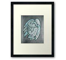 Guardian angel illustration Framed Print