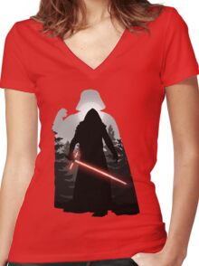 The Sins Of Our Fathers  Women's Fitted V-Neck T-Shirt