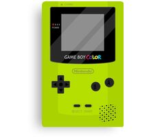 Gameboy Color - Green Canvas Print