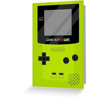 Gameboy Color - Green Greeting Card