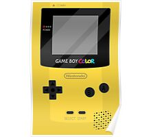 Gameboy Color - Yellow Poster