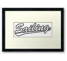 Sailing script Framed Print