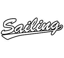 Sailing script Photographic Print