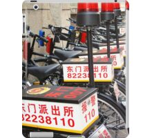 Police Bicycles  iPad Case/Skin