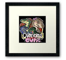 Carnivorous Cutie Framed Print