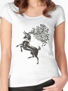 Pokemon / Game of Thrones: Sawsbuck / Baratheon Women's Fitted Scoop T-Shirt