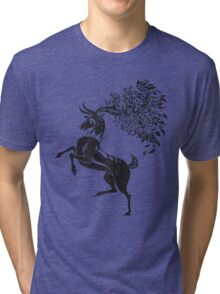 Pokemon / Game of Thrones: Sawsbuck / Baratheon Tri-blend T-Shirt