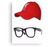 Klopp Glasses & Baseball cap Canvas Print