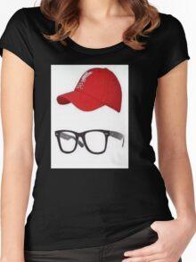 Klopp Glasses & Baseball cap Women's Fitted Scoop T-Shirt