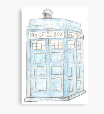 TARDIS Pencil drawing Canvas Print