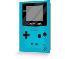Gameboy Color - Teal Greeting Card