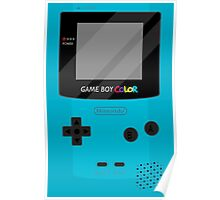 Gameboy Color - Teal Poster