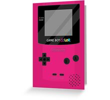 Gameboy Color - Berry Greeting Card