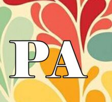 Floral Pennsylvania Sticker