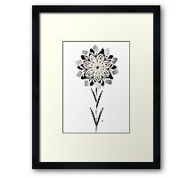 Art Deco Blooming Number 3 Framed Print