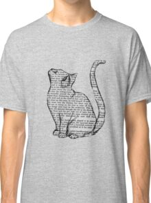books and cats and books and cats Classic T-Shirt