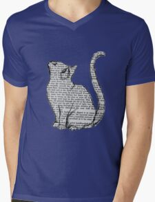 books and cats and books and cats Mens V-Neck T-Shirt