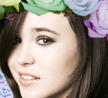 Flower Crown Ellen Sticker