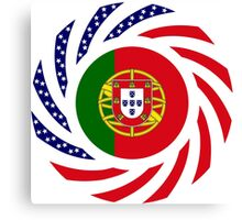 Portuguese American Multinational Patriot Flag Series Canvas Print