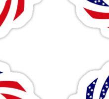 Portuguese American Multinational Patriot Flag Series Sticker