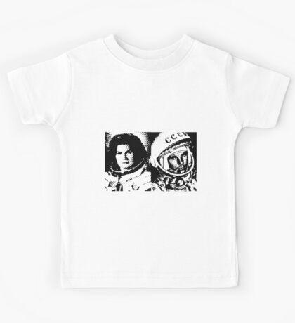 Cosmonauts: Tereshkova & Gagarin Kids Tee