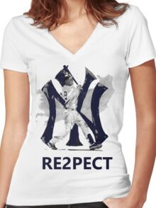 RE2PECT Women's Fitted V-Neck T-Shirt