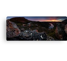 Red Morning Surprise Canvas Print