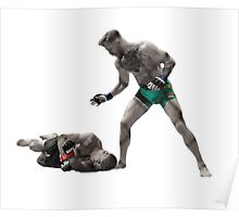 Conor McGregor Precision Beats Power Timing Beats Speed Poster