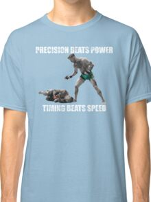 Conor McGregor Precision Beats Power Timing Beats Speed Classic T-Shirt