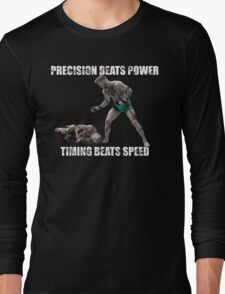 Conor McGregor Precision Beats Power Timing Beats Speed Long Sleeve T-Shirt