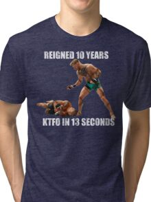 Conor McGregor 13 Second Knock Out Tri-blend T-Shirt