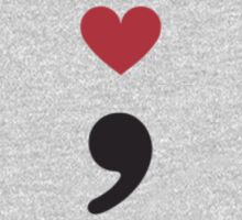 Semicolon; Heart Red and Black One Piece - Long Sleeve