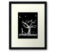Kingdom Hearts tree Framed Print