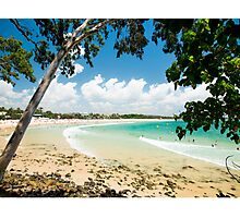 Beauty of Nature : Turquoise Ocean & Blue Skies of Noosa Main Beach Photographic Print