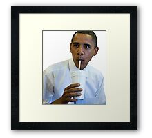 Obama - Sippin Framed Print