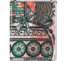 Xmas Baubles 13 -  Gelli Plate Print and Ink iPad Case/Skin
