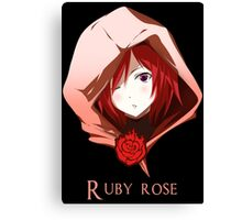 Ruby rose - red Canvas Print