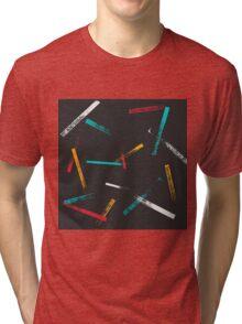Grunge brush strokes pattern Tri-blend T-Shirt