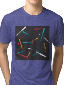 Grunge brush strokes pattern Tri-blend T-Shirt