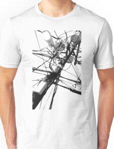 Lamp Post & Power Lines Unisex T-Shirt