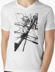 Lamp Post & Power Lines Mens V-Neck T-Shirt