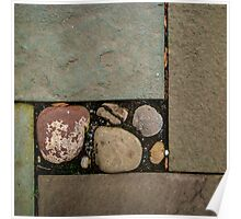 Natural Cut Paving Stones and Rocks Poster