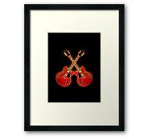 Red Gibson Es 335 Framed Print