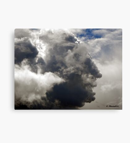 George Washington. The Face in the Clouds Canvas Print