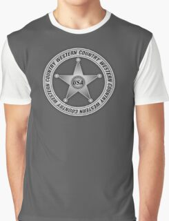 Western Country music Sheriff Sign Graphic T-Shirt