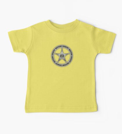 Western Country music Sheriff Sign Baby Tee