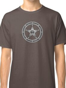 Western Country music Sheriff Sign Classic T-Shirt